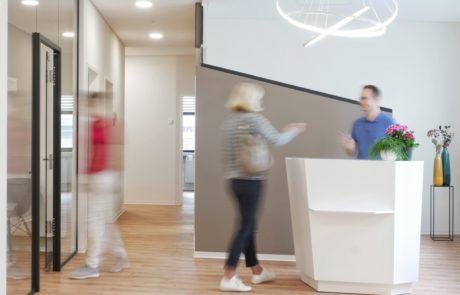 Foyer Zahnarztpraxis